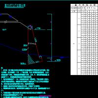 重力式挡土墙通用设计CAD图(3-8m)