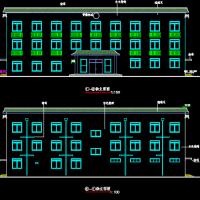 天津1314平米小型办公楼建筑及结构全套图