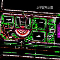某制药厂总平面布置CAD图