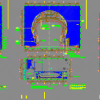 江苏省歌剧院平面CAD图