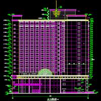 高层酒店综合楼建筑设计cad图纸