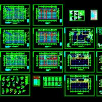 7455平米五层框架结构电子综合楼厂房建筑及结构全套设计图