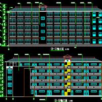 3000平米5层框架中学教学楼毕业设计(施组 完整图纸 横道图 施工总平图 工程量计算)