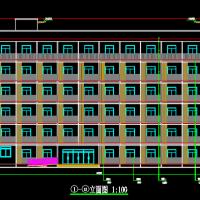 4642平米六层框架结构宿舍楼建筑施工图