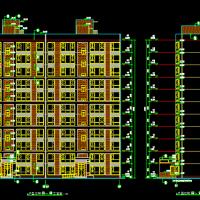 西安某大学小高层住宅楼建结水电暖全套图(一梯两户南楼梯)CFG桩