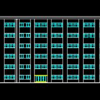 6000平米6层框架结构L形教学楼课程设计参考图