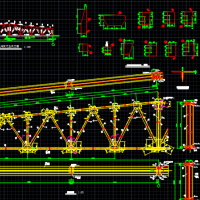 某大学24m跨梯形钢屋架课程设计CAD图纸