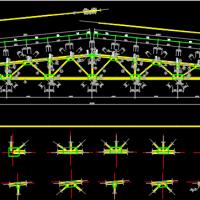 11m跨梯形钢屋架厂房建筑及结构全套CAD施工图