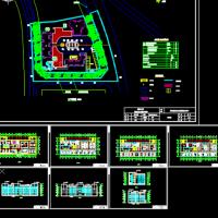 四层社区活动中心建筑及结构全套图