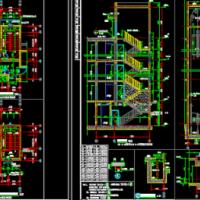 住宅建筑楼电梯详图及自行车坡道CAD详图
