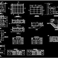 轻型及重型盖板排水沟结构CAD施工图