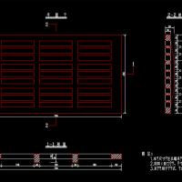 750x450铸铁雨水口篦设计CAD图