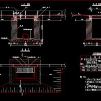 边沟式单篦雨水口CAD详图(铸铁篦子)