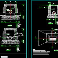 平蓖式单蓖雨水口大样图及截水沟设计图