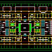 西安某地传染病医院建筑方案CAD图