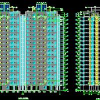 17+1层框剪结构住宅楼建筑结构全套施工图纸(钻孔灌注桩)