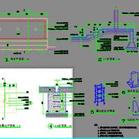 学校旗台旗杆及基础设计CAD图纸