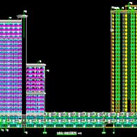 海南三亚62016平米商业综合楼建筑设计图纸