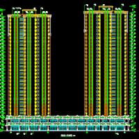 海南三亚46532平米31层商住楼建筑施工图