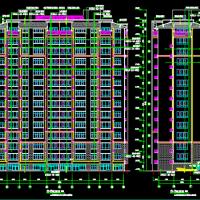 赤峰市7860平米12层框架结构住宅楼建筑施工图(坡屋顶)