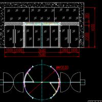二翼豪华旋转门CAD图