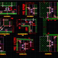 干挂石材节点CAD详图