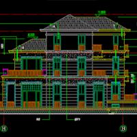 12.04X17.14三层别墅建筑及结构全套施工图