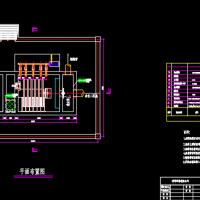 纤维转盘滤池平面布置CAD图