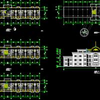 某欧式酒店式公寓平立面方案图