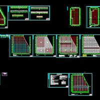 温室大棚生态餐厅全套建筑施工图(建结水电暖及效果图)