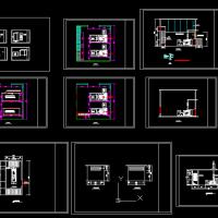 柴油发电机房平面布置CAD图
