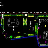 高端窗帘专卖店装修设计CAD施工图