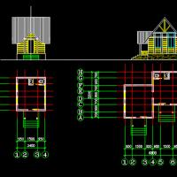 精典小木屋平立面CAD图纸