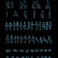 各种姿势人物CAD图块