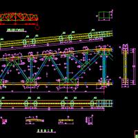 18米梯形钢屋架CAD设计图纸