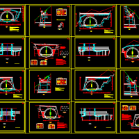 某隧道洞门结构CAD图