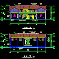云南大理710平米两层层框架结构民居建筑图纸