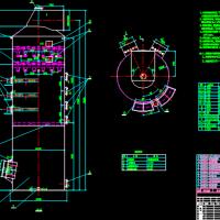 烟气脱硫钢制吸收塔CAD设计图