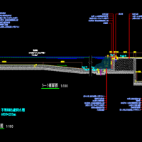 室外标准游泳池CAD施工图