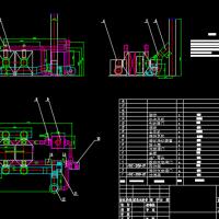 某蓄热式催化燃烧(RCO)设备设计结构与外型工艺图