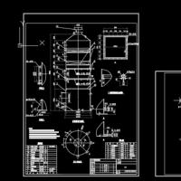 活性炭废气吸附塔设备制作CAD图纸