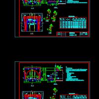 翼墙式隧道洞门CAD图纸