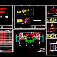 柴油发电机房及消防水泵房给排水设计图纸(水喷雾)