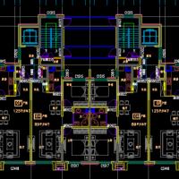 万科某地高层住宅楼最新户方案设计图