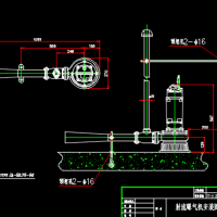 水下射流曝气机安装图