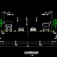 双向四车道路灯工程设计CAD图(含工程量及设计说明)
