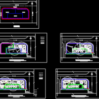 住宅小区施工总平面布置图三阶段(基础、主体、装修)