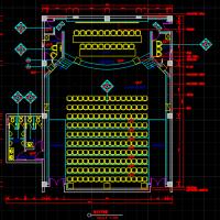 学术报告厅声学装修设计CAD图