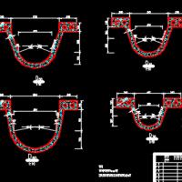 渠道U型槽节点详图