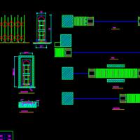电动伸缩门及门洞CAD施工图